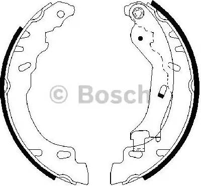 BOSCH 0 986 487 704 - Jeu de freins, freins à tambour www.widencarpieces.com