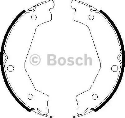 BOSCH 0 986 487 708 - Jeu de mâchoires de frein, frein de stationnement www.widencarpieces.com