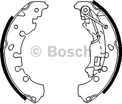 BOSCH 0 986 487 702 - Jeu de freins, freins à tambour www.widencarpieces.com