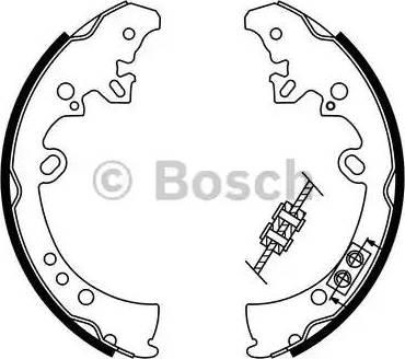 BOSCH 0 986 487 787 - Jeu de freins, freins à tambour www.widencarpieces.com