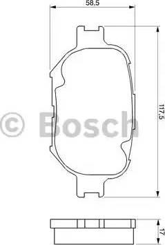 BOSCH 0 986 424 808 - Kit de plaquettes de frein, frein à disque www.widencarpieces.com