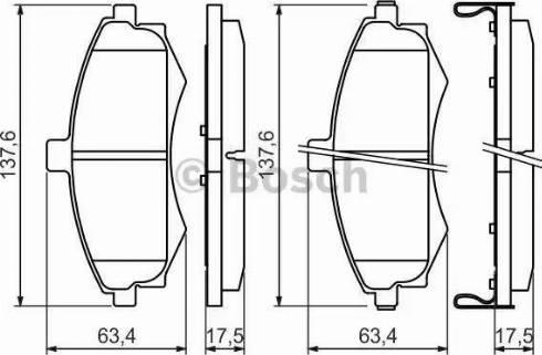 BOSCH 0 986 424 810 - Kit de plaquettes de frein, frein à disque www.widencarpieces.com