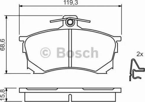 BOSCH 0 986 424 370 - Kit de plaquettes de frein, frein à disque www.widencarpieces.com