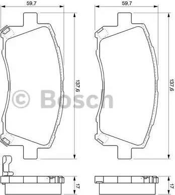 BOSCH 0 986 424 700 - Kit de plaquettes de frein, frein à disque www.widencarpieces.com