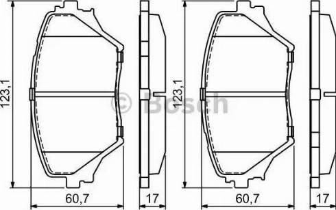 BOSCH 0 986 424 719 - Kit de plaquettes de frein, frein à disque www.widencarpieces.com