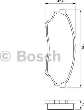 BOSCH 0 986 424 713 - Kit de plaquettes de frein, frein à disque www.widencarpieces.com