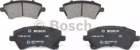 BOSCH 0 986 424 735 - Kit de plaquettes de frein, frein à disque www.widencarpieces.com