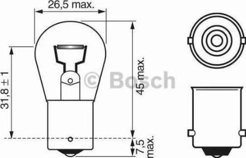 BOSCH 1987302501 - Ampoule, feu stop www.widencarpieces.com