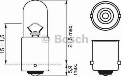 BOSCH 1987302207 - Ampoule, feu de stationnement/de position www.widencarpieces.com