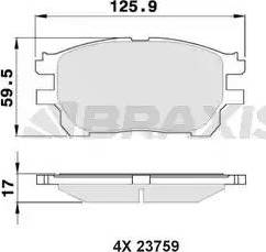 Braxis AA0368 - Kit de plaquettes de frein, frein à disque www.widencarpieces.com