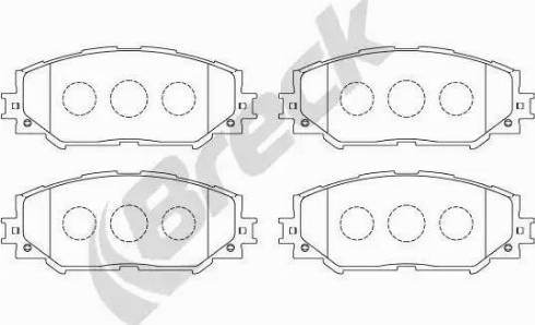 Breck 24336 00 701 00 - Kit de plaquettes de frein, frein à disque www.widencarpieces.com