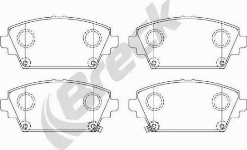 Breck 23094 00 701 00 - Kit de plaquettes de frein, frein à disque www.widencarpieces.com
