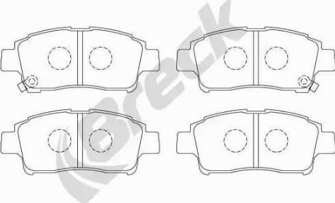 Breck 23348 00 701 10 - Kit de plaquettes de frein, frein à disque www.widencarpieces.com