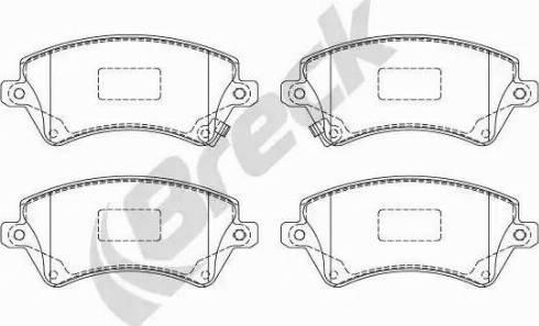Breck 23766 00 701 10 - Kit de plaquettes de frein, frein à disque www.widencarpieces.com