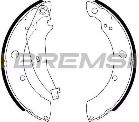 Bremsi GF4810 - Jeu de freins, freins à tambour www.widencarpieces.com
