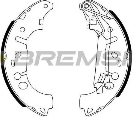 Bremsi GF0146 - Jeu de freins, freins à tambour www.widencarpieces.com