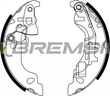 Bremsi GF0158 - Jeu de freins, freins à tambour www.widencarpieces.com