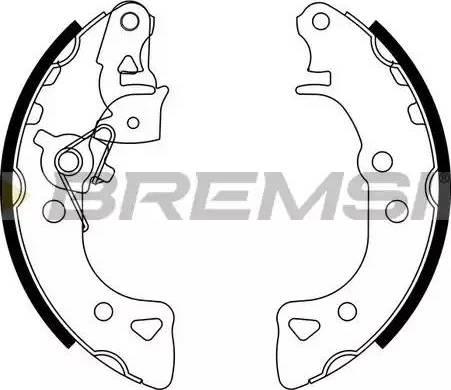 Bremsi GF0103-1 - Jeu de freins, freins à tambour www.widencarpieces.com