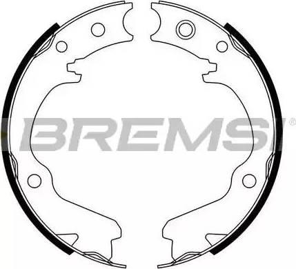 Bremsi GF0891 - Jeu de mâchoires de frein, frein de stationnement www.widencarpieces.com