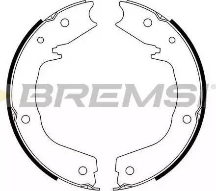 Bremsi GF0831 - Jeu de mâchoires de frein, frein de stationnement www.widencarpieces.com