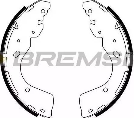 Bremsi GF0877 - Jeu de freins, freins à tambour www.widencarpieces.com