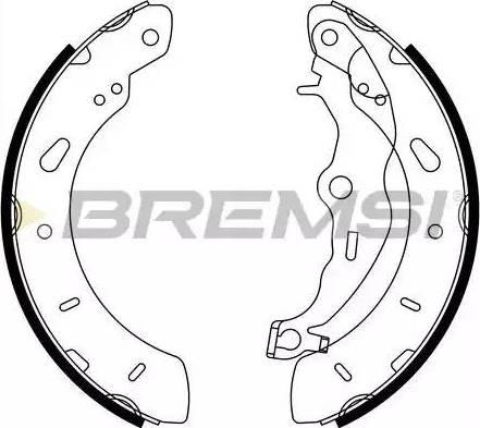 Bremsi GF0248 - Jeu de freins, freins à tambour www.widencarpieces.com