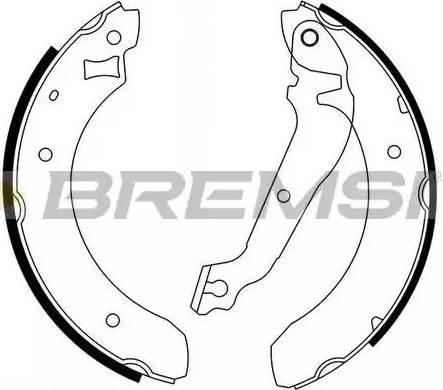 Bremsi GF0215 - Jeu de freins, freins à tambour www.widencarpieces.com
