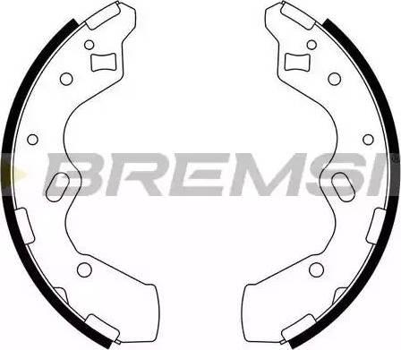 Bremsi GF0796 - Jeu de freins, freins à tambour www.widencarpieces.com