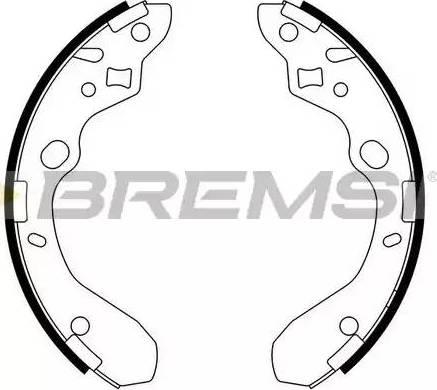Bremsi GF0792 - Jeu de freins, freins à tambour www.widencarpieces.com
