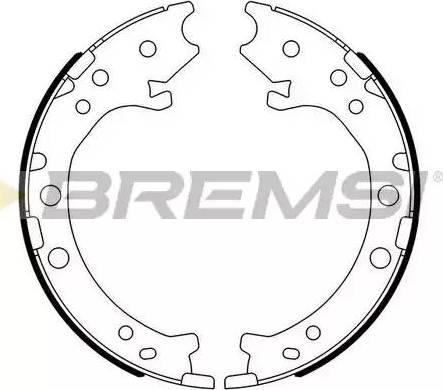 Bremsi GF0715 - Jeu de mâchoires de frein, frein de stationnement www.widencarpieces.com