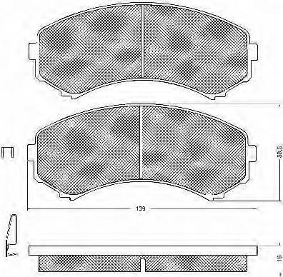 BSF 10749 - Kit de plaquettes de frein, frein à disque www.widencarpieces.com