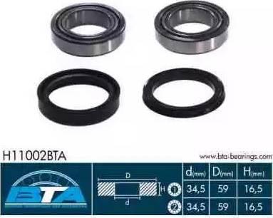 BTA H11002BTA - Kit de roulements de roue www.widencarpieces.com