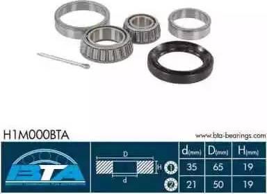 BTA H1M000BTA - Kit de roulements de roue www.widencarpieces.com