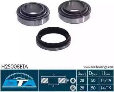BTA H25008BTA - Kit de roulements de roue www.widencarpieces.com