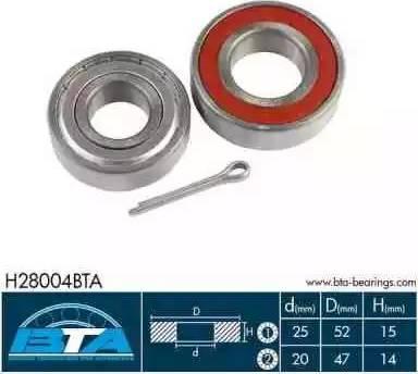 BTA H28004BTA - Kit de roulements de roue www.widencarpieces.com