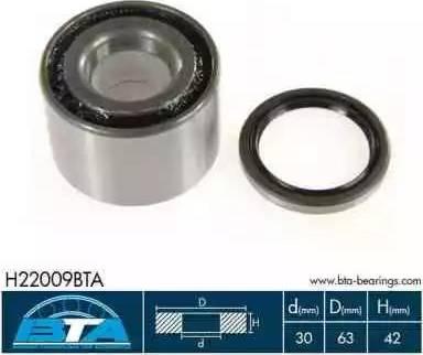 BTA H22009BTA - Kit de roulements de roue www.widencarpieces.com