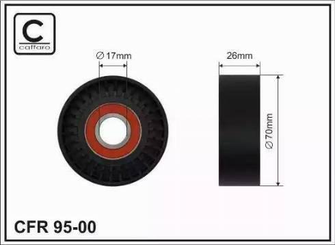 CAFFARO 95-00 - Poulie renvoi/transmission, courroie trapézoïdale à nervures www.widencarpieces.com