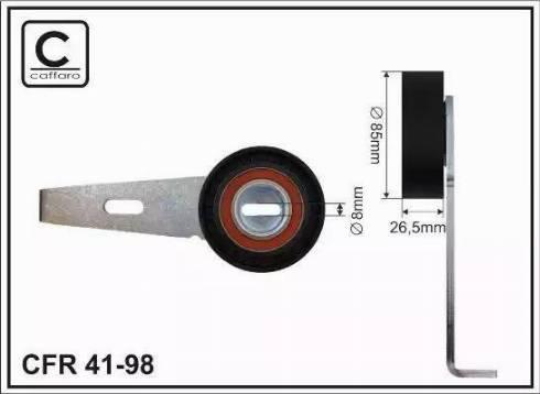 CAFFARO 41-98 - Tendeur de courroie, courroie trapézoïdale à nervures www.widencarpieces.com