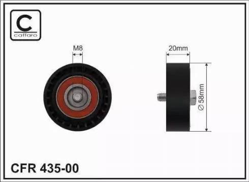 CAFFARO 435-00 - Poulie-tendeur, courroie trapézoïdale à nervures www.widencarpieces.com