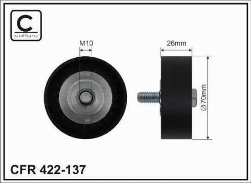 CAFFARO 422-137 - Poulie renvoi/transmission, courroie trapézoïdale à nervures www.widencarpieces.com