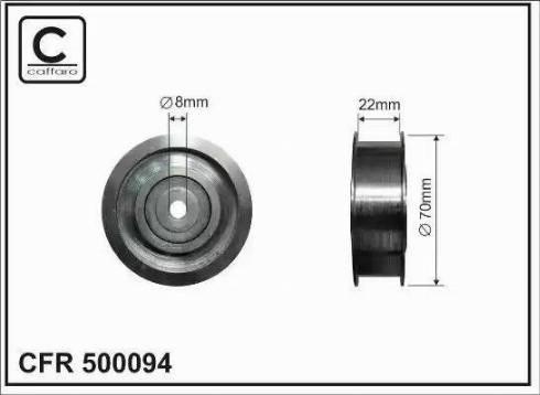 CAFFARO 500094 - Poulie renvoi/transmission, courroie trapézoïdale à nervures www.widencarpieces.com