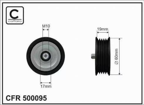 CAFFARO 500095 - Poulie renvoi/transmission, courroie trapézoïdale à nervures www.widencarpieces.com