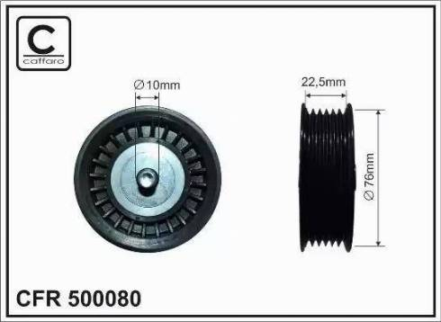 CAFFARO 500080 - Poulie renvoi/transmission, courroie trapézoïdale à nervures www.widencarpieces.com