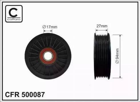 CAFFARO 500087 - Poulie-tendeur, courroie trapézoïdale à nervures www.widencarpieces.com