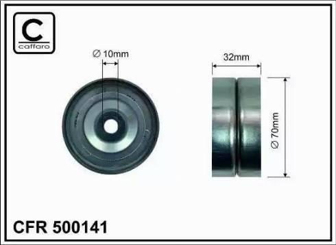 CAFFARO 500141 - Poulie renvoi/transmission, courroie trapézoïdale à nervures www.widencarpieces.com