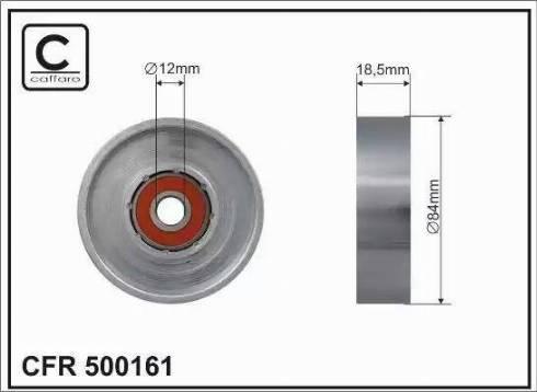 CAFFARO 500161 - Poulie-tendeur, courroie trapézoïdale à nervures www.widencarpieces.com