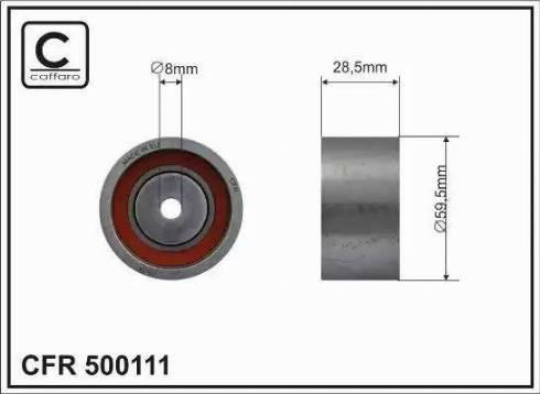 CAFFARO 500111 - Poulie-tendeur, courroie crantée www.widencarpieces.com