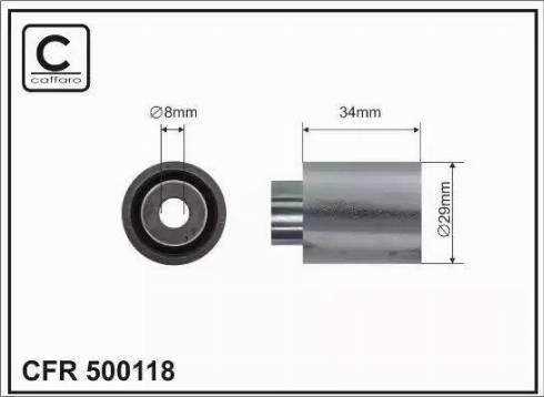 CAFFARO 500118 - Poulie renvoi/transmission, courroie de distribution www.widencarpieces.com