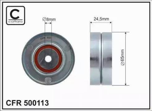 CAFFARO 500113 - Poulie renvoi/transmission, courroie trapézoïdale à nervures www.widencarpieces.com