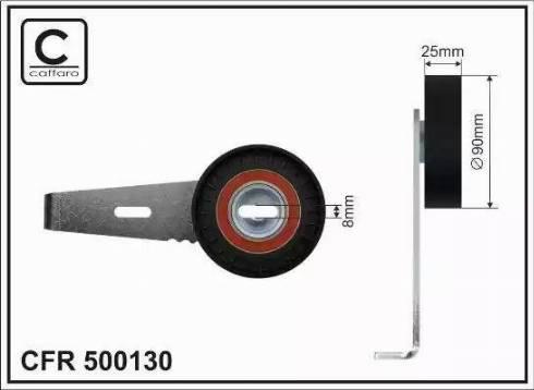 CAFFARO 500130 - Tendeur de courroie, courroie trapézoïdale à nervures www.widencarpieces.com